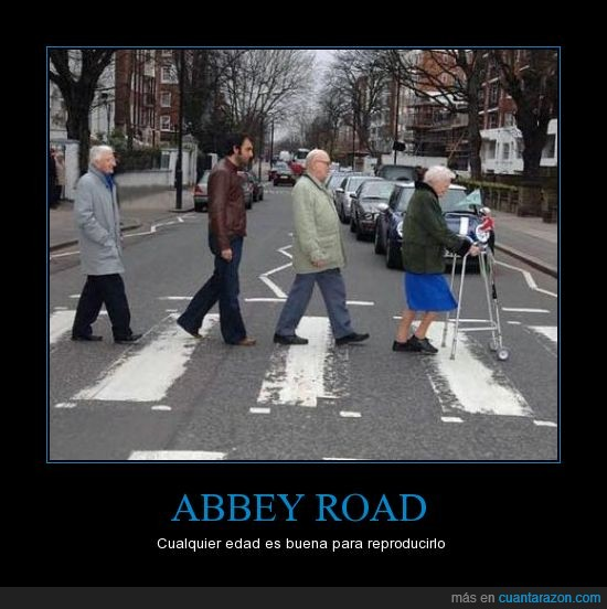 Abbey road,gente,The Beatles,viejos