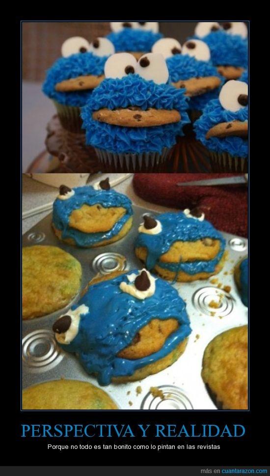 cooks,fail,monstruo de las galletas,perspectiva,realidad