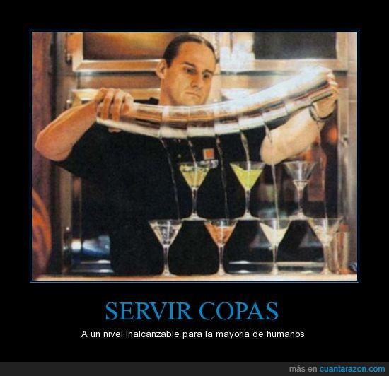 like the boss,servir,servir copas