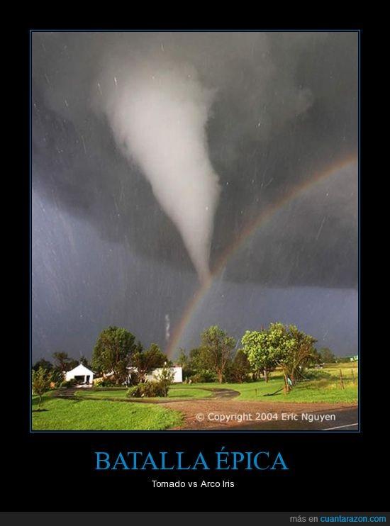 arco iris,tormenta,tornado