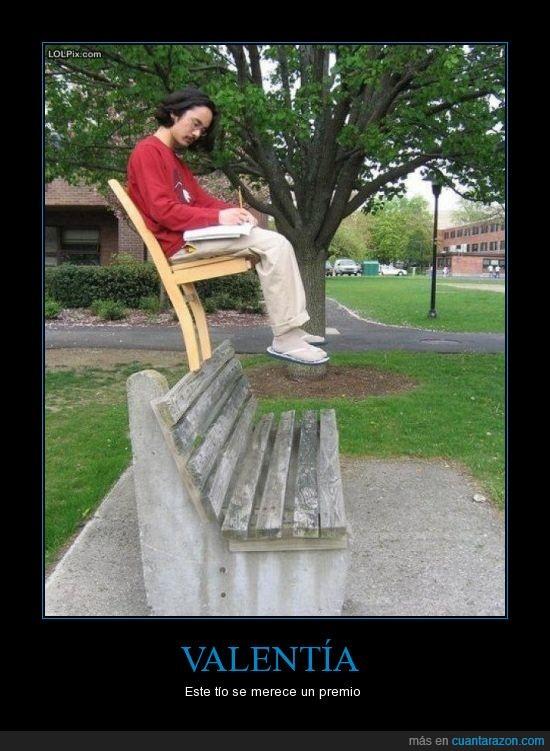 banco,equilibrio,experto,silla,tio