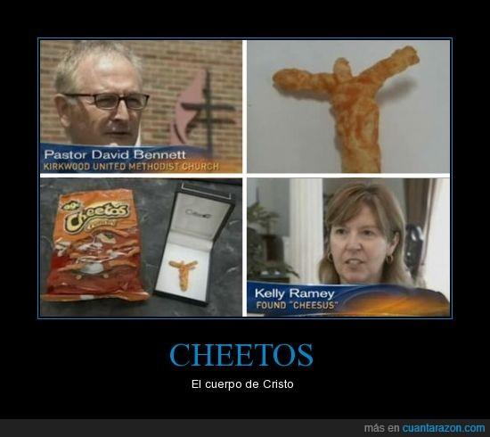 Cheetos,Cruz,Jesus,Milagro,religión,religioso