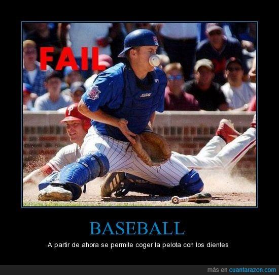 baseball,boca,coger,golpe,hostia,pelota