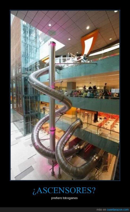 ascensor,pisos,tobogan