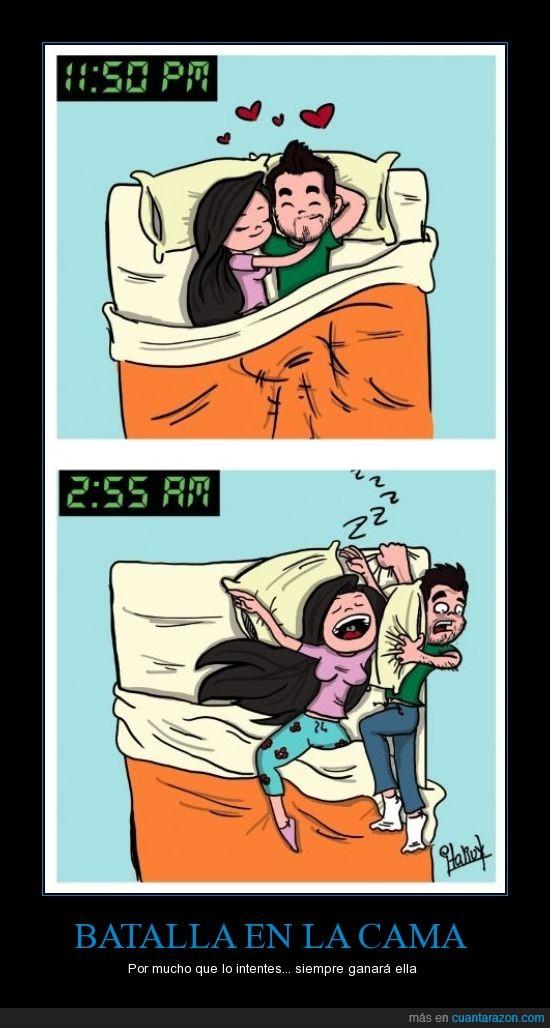 Cama,Chica,dormir