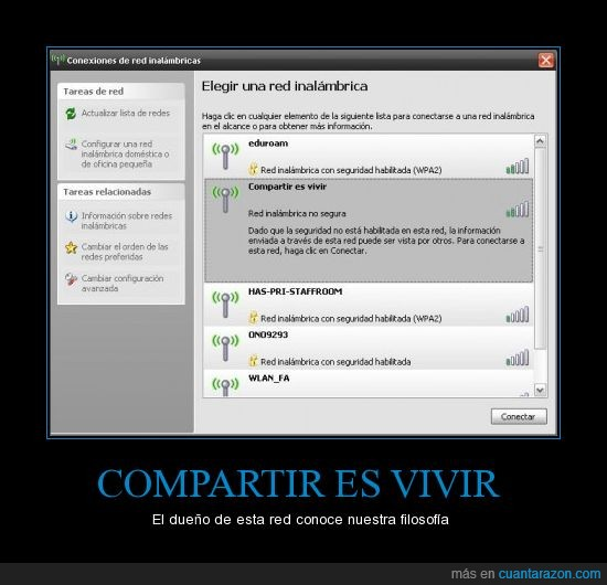 compartir es vivir,libre,Red,wifi