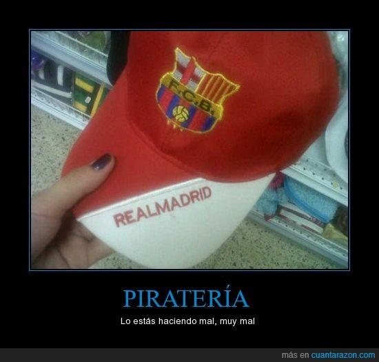 Barça,Barcelona,futbol,Gorra,piratería,Real Madrid