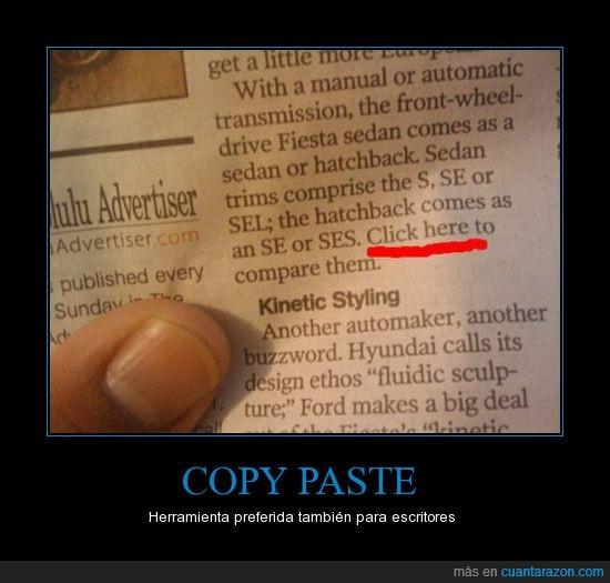 copy paste,escritores,periodico