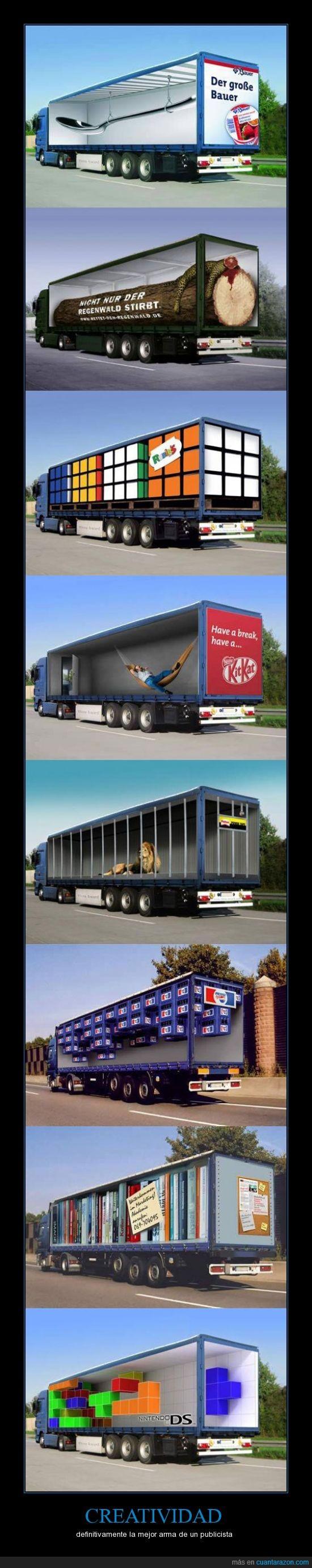 camiones,creativo,publicidad