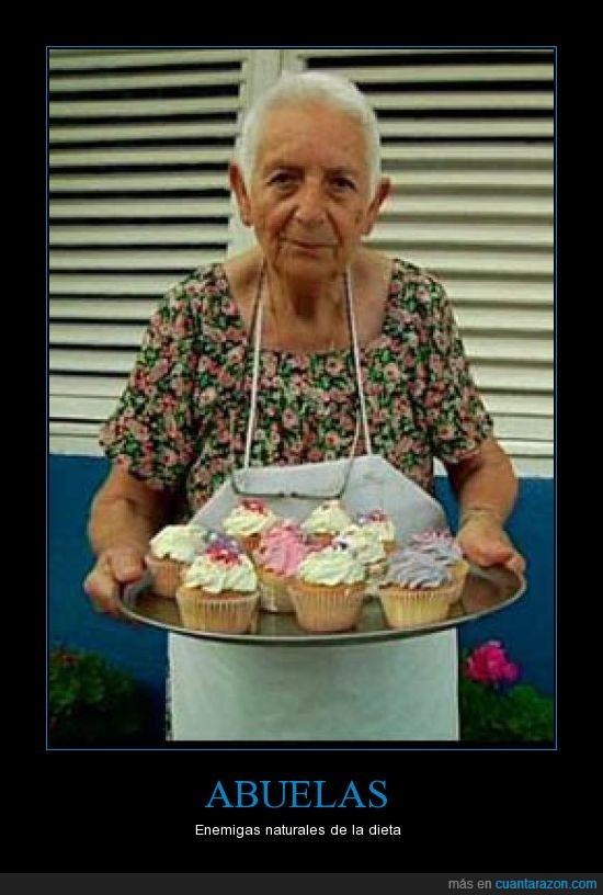 abuela,dieta,pasteles