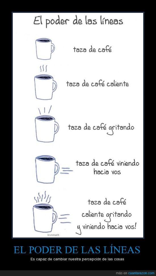 café,líneas,poder