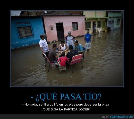 dominó,inundación,venezuela