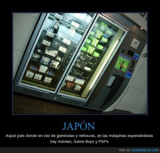 consolas,expendedora,maquina,móviles
