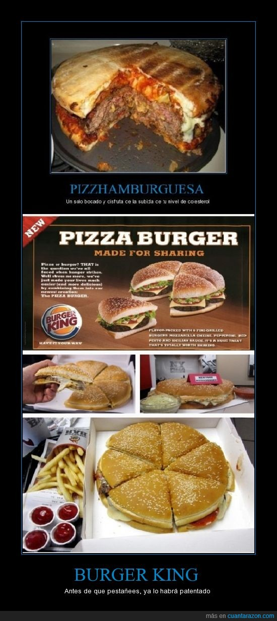 burguer king,hamburguesa,pizza