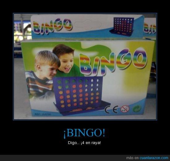 4 en raya,bingo,chinos,juego