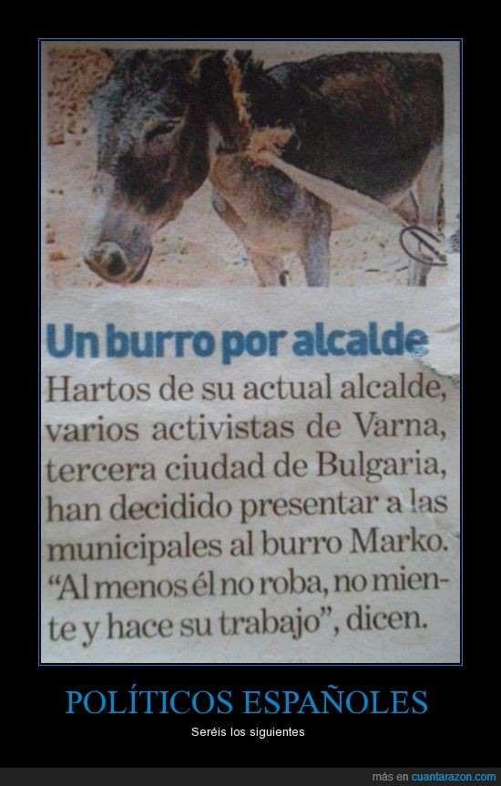 alcalde,burro,periódico,política