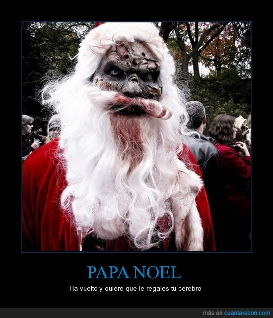 disfraz,papa noel,zombie