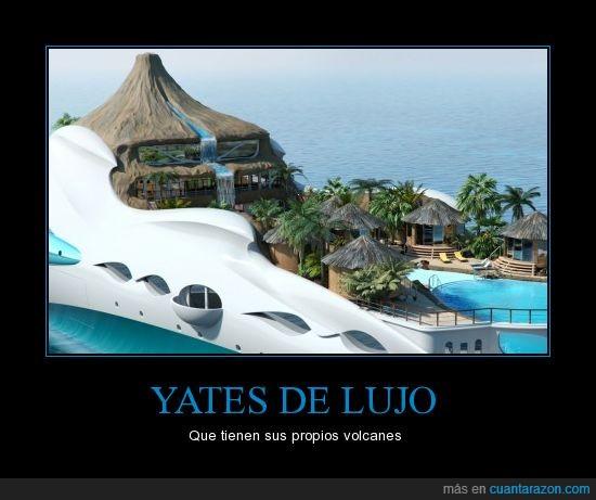 lujo,volcan,yate