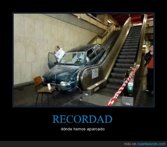 aparcar,coche,metro