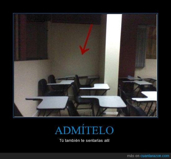 asiento,aula,clase,examen