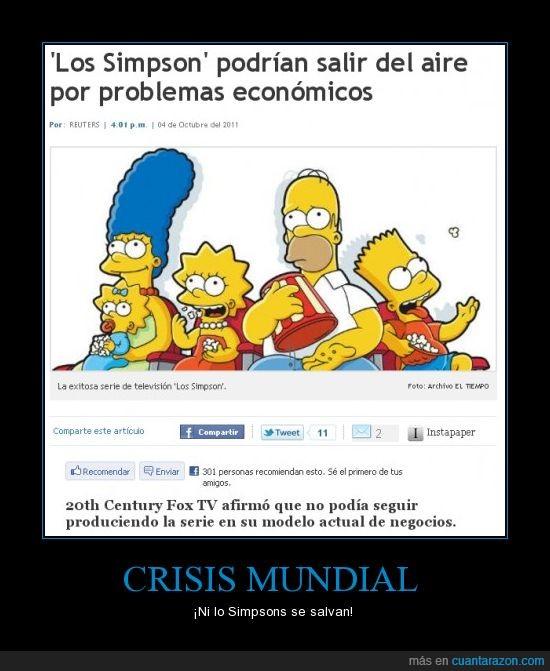 crisis economica,Los simpsons,noticias