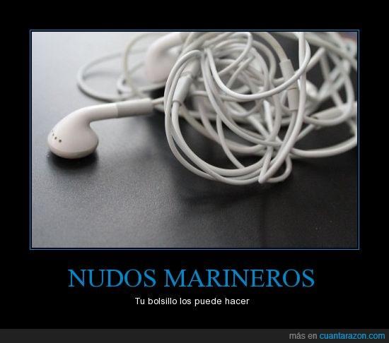 auriculares,bolsillo,marineros,nudos
