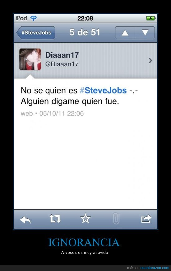apple,Ignorancia,iPod,Steve Jobs