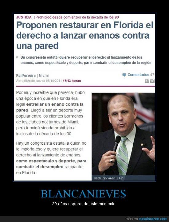 Blancanieves,el mundo,enanos,Florida,ley,ley absurda