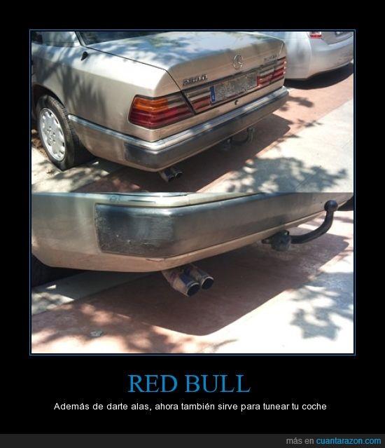 coche,redbull,tubo de escape