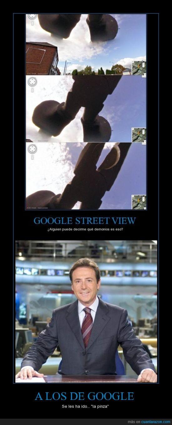 alicates,bug,google,humor,matías prats,pinzas,street view