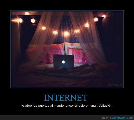 abre,habitación,Internet,puertas