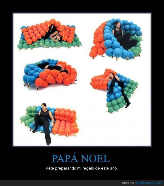 bolas,invento curioso,papa noel