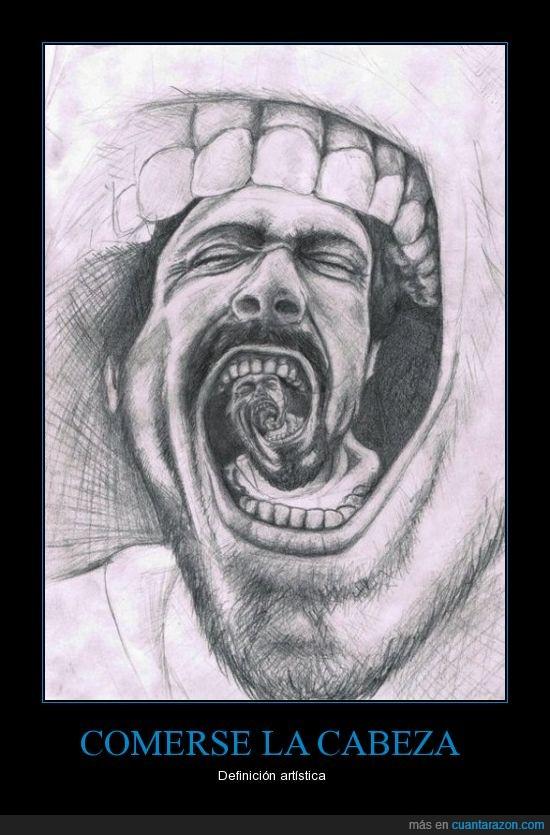 arte,boca,hombre