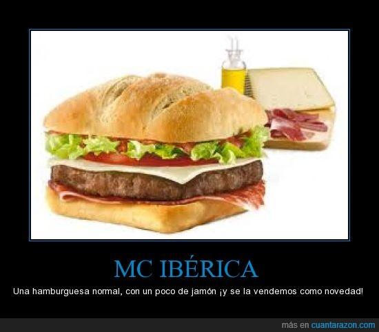 hamburguesa,jamon,mc iberica