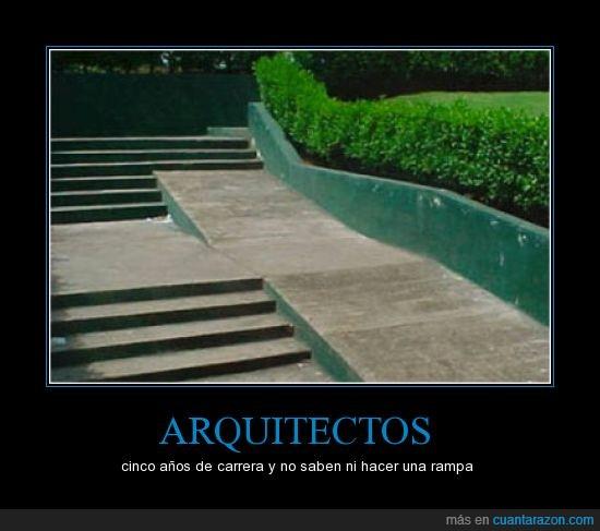 años,arquitectos,carrera,escaleras,rampa