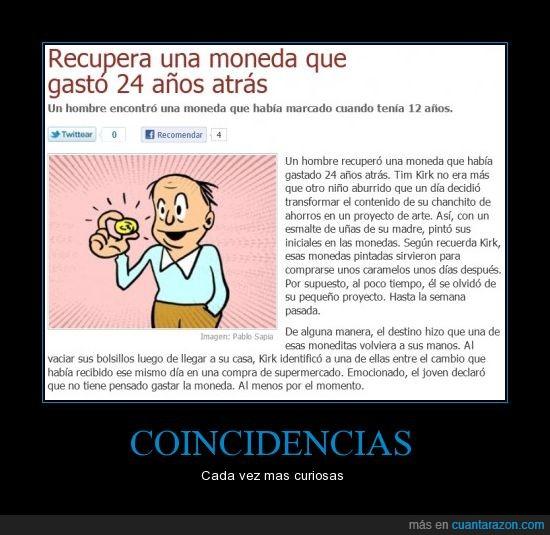 Casualidad,Coincidencia,Moneda