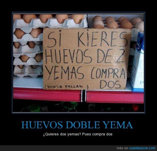 comprar,dos,huevos,yemas