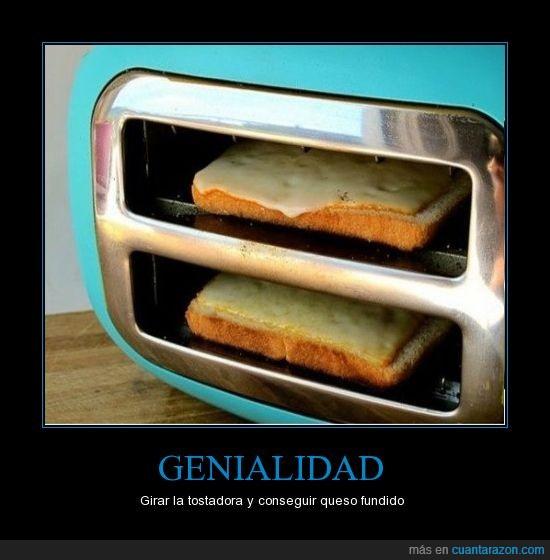genio,girar,queso,tostada,tostadora