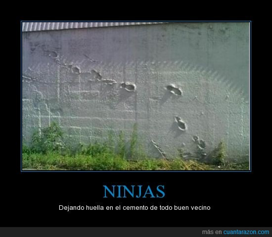 malditos,ninja,pared