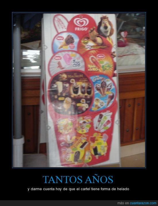 cartel,helados