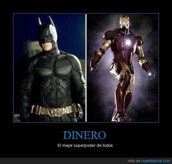 batman,dinero,iron man,mejor,superpoder