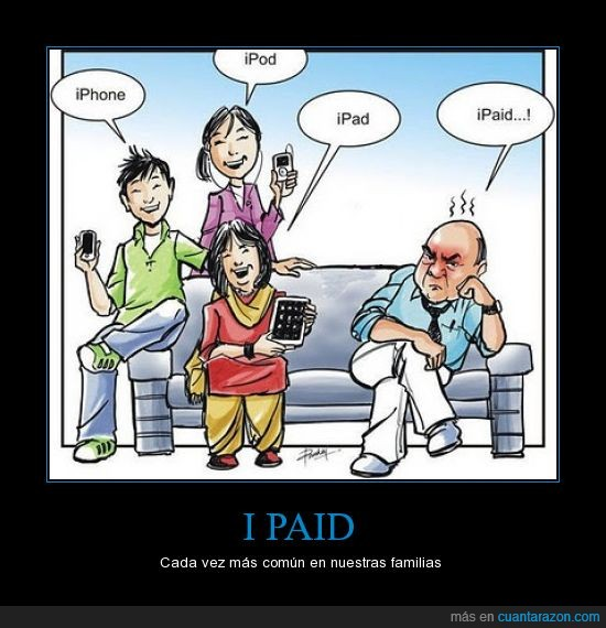 apple,familia,humor grafico,ipad,iphone