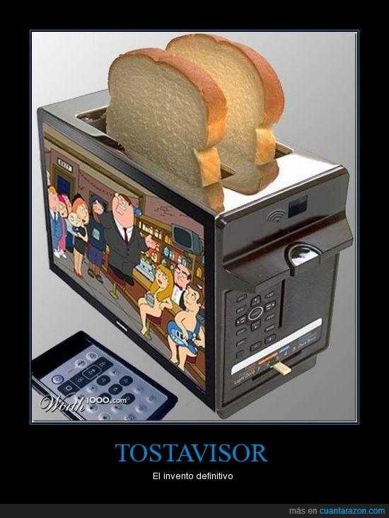 invento,televisor,tostadora