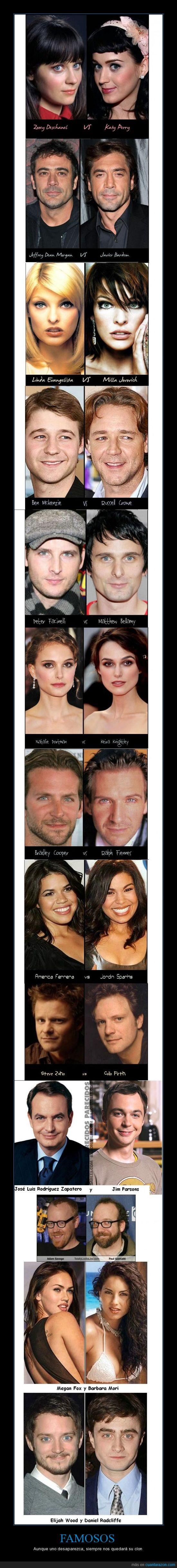 actores,caras,famosos,parecidos