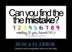 Enlace a BUSCA EL ERROR