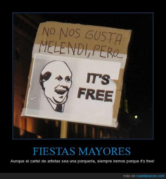 fiestas,free,it's free,melendi,no gusta,zaragoza