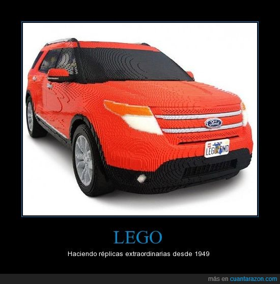 coche,ford,gigante,lego,replicas