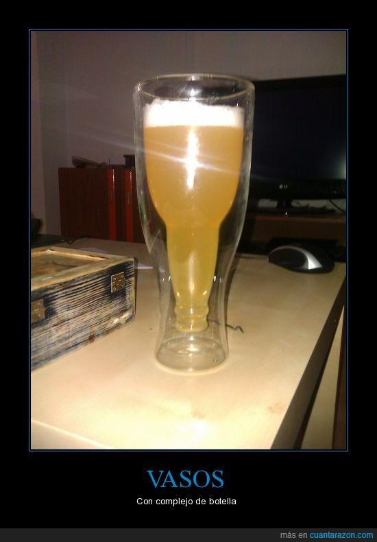 botella,cerveza,vasos