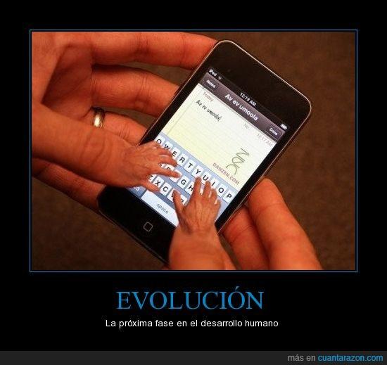dedos,evolucion,manos,teclado,telefono