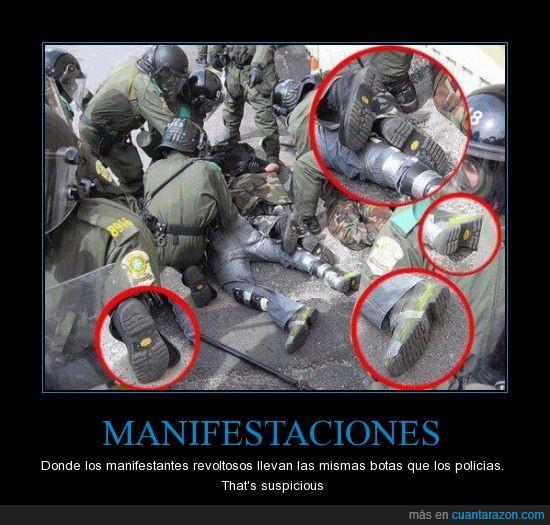 antidisturbios,manifestacion,policia
